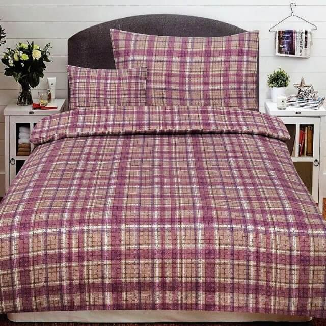 Flanel ágynemű Pink kockás minta.