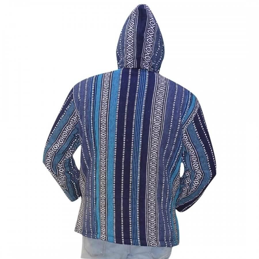 Csíkos - vastag férfi kabát Nepálból- 3 színben