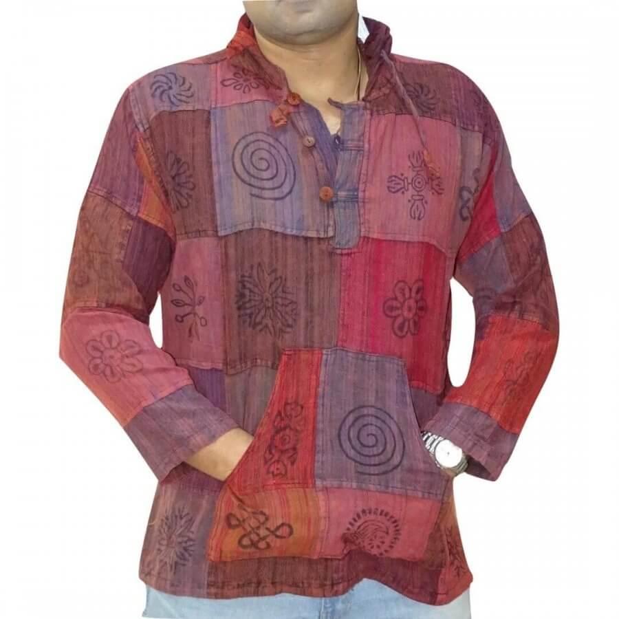 Kockás kenguru ing Nepálból 4 színben