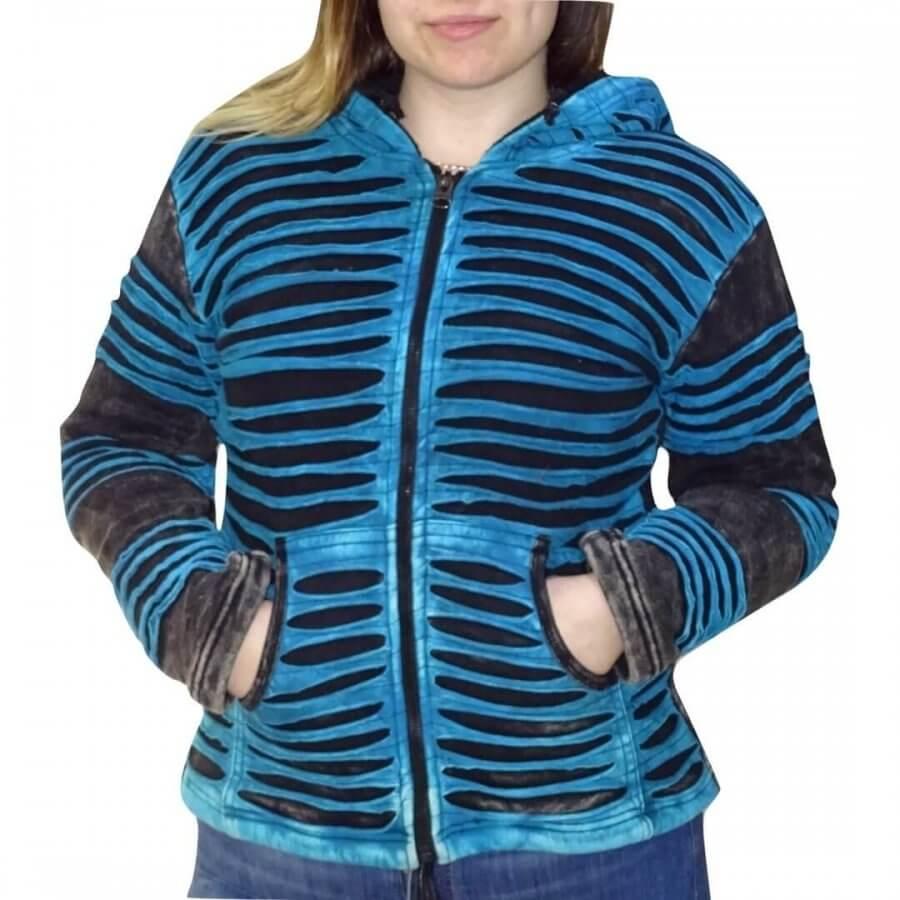 Női kabát Nepálból, kézzel készített, 100% pamut. Puha, vastag, meleg és különleges! Hosszúkás kapucnival. 5 méretben kapható: S, M, L, XL, XXL. A méreteket kiválaszthatják rendelés előtt.