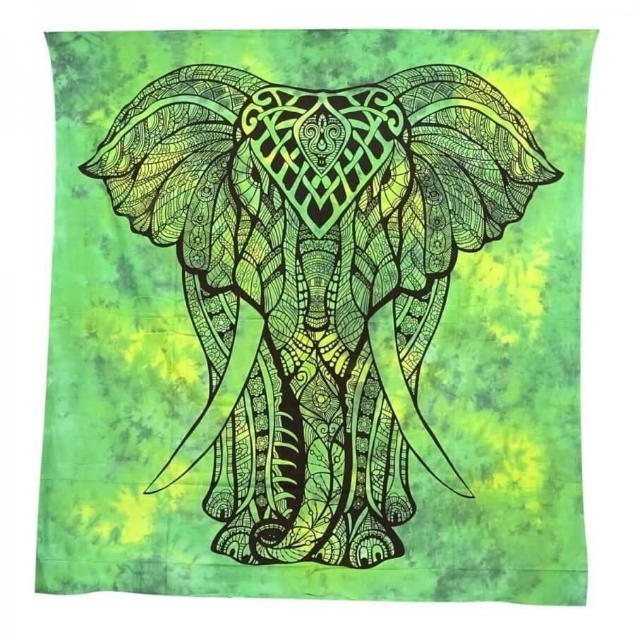 Elefánt mintás falidísz Indiából