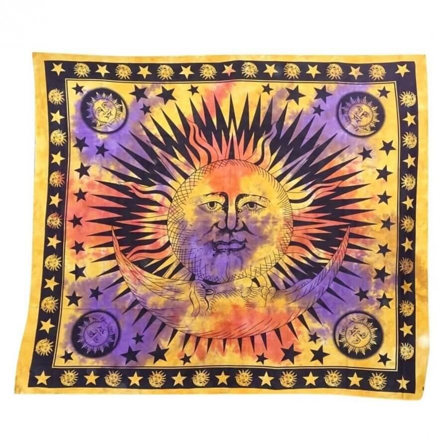 Nap mintás falidísz Indiából 4 színben