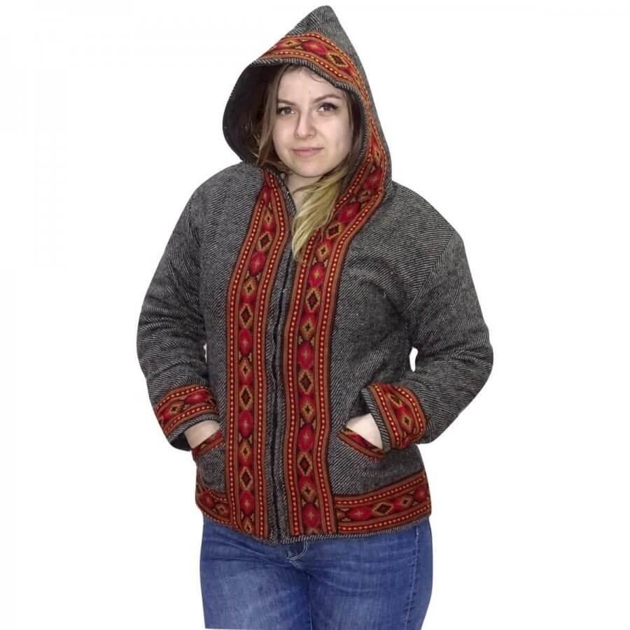 Uniszex polárral bélelt kabát Indiából választható 4 színben