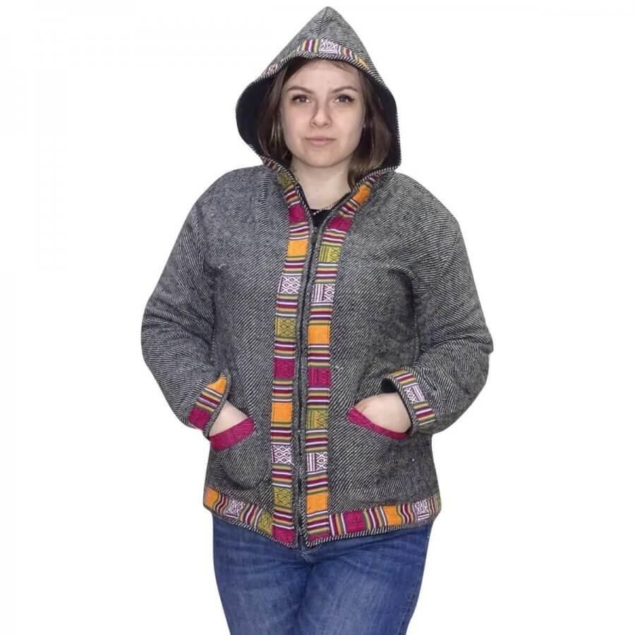 Uniszex polárral bélelt kabát Indiából választható 5 színben