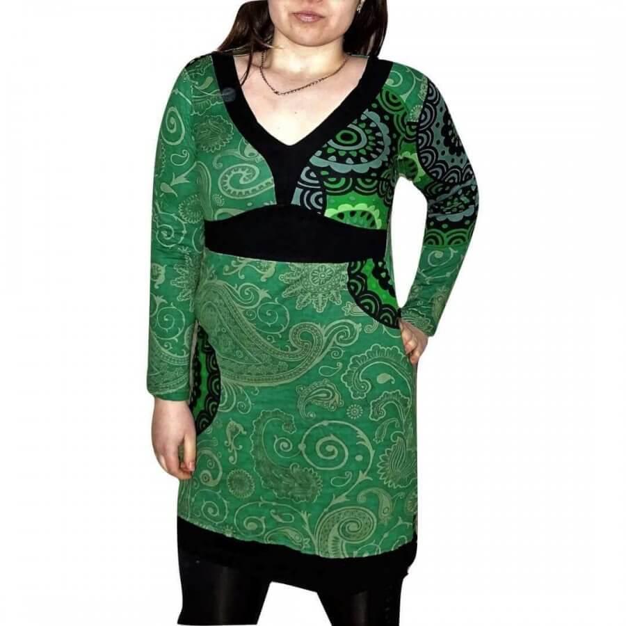 Női Tunika zőld Színben mandala mintás