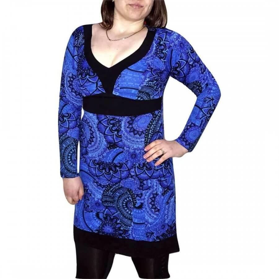 Női Tunika kék Színben mandala mintás
