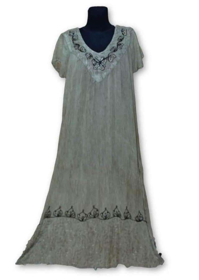 Rövid ujjú hosszú ruha Indiából 2600