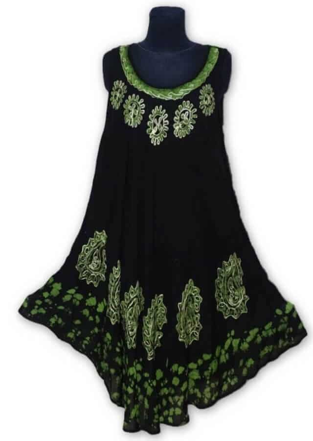Rövid ruha Indiából több színben rs150 zöld