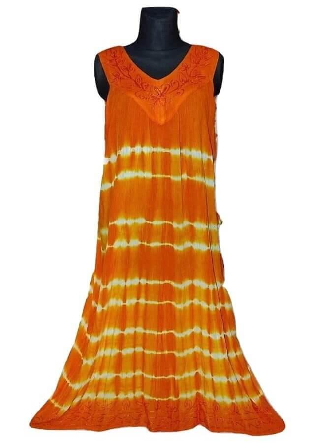 hosszú indiai nyári ruha élénk színekben