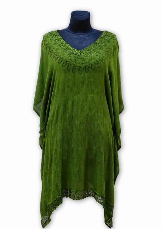 Poncsó Indiából-zöld nagy méret 2907