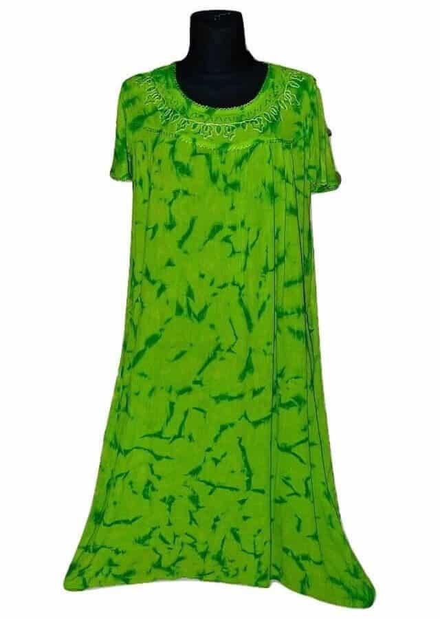 Extra méretű ruha Indiából zöld színben