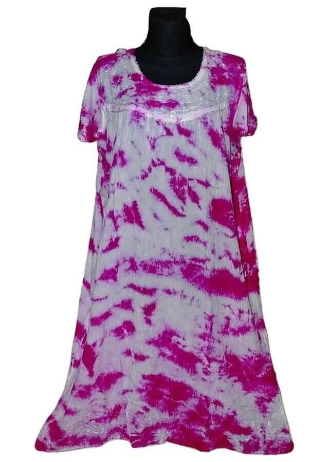 Extra méretű ruha Indiából 805 pink szín