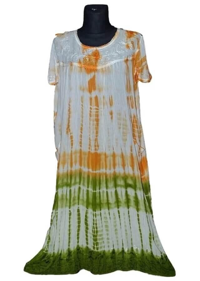 Extra méretű ruha Indiából 808 narancs színben