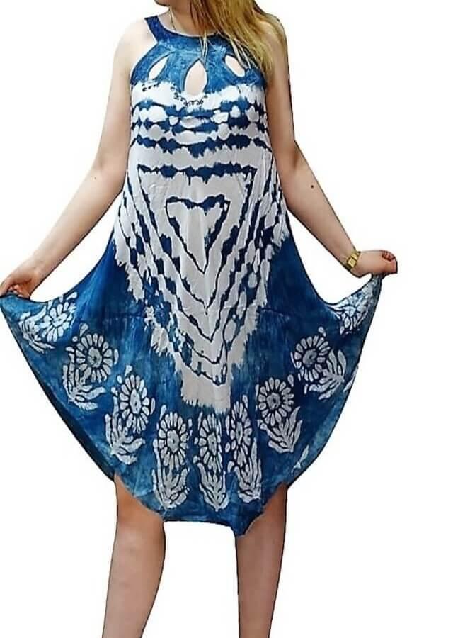 Rövid ruha Indiából több színben kék