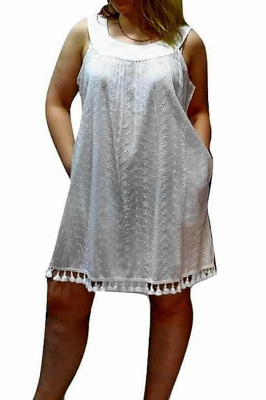 fehér pamut ruha