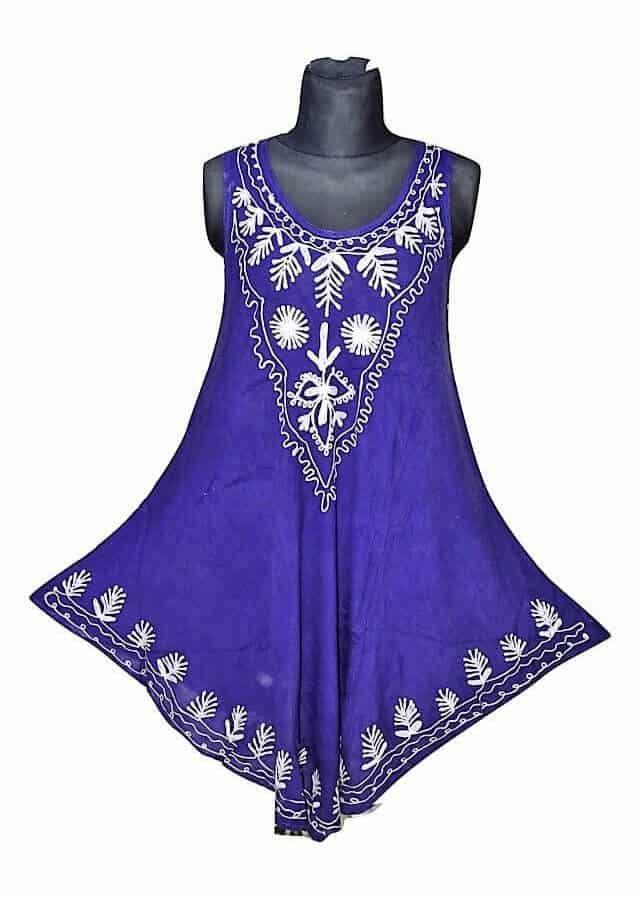 Rövid ruha Indiából több színben 17138 blue