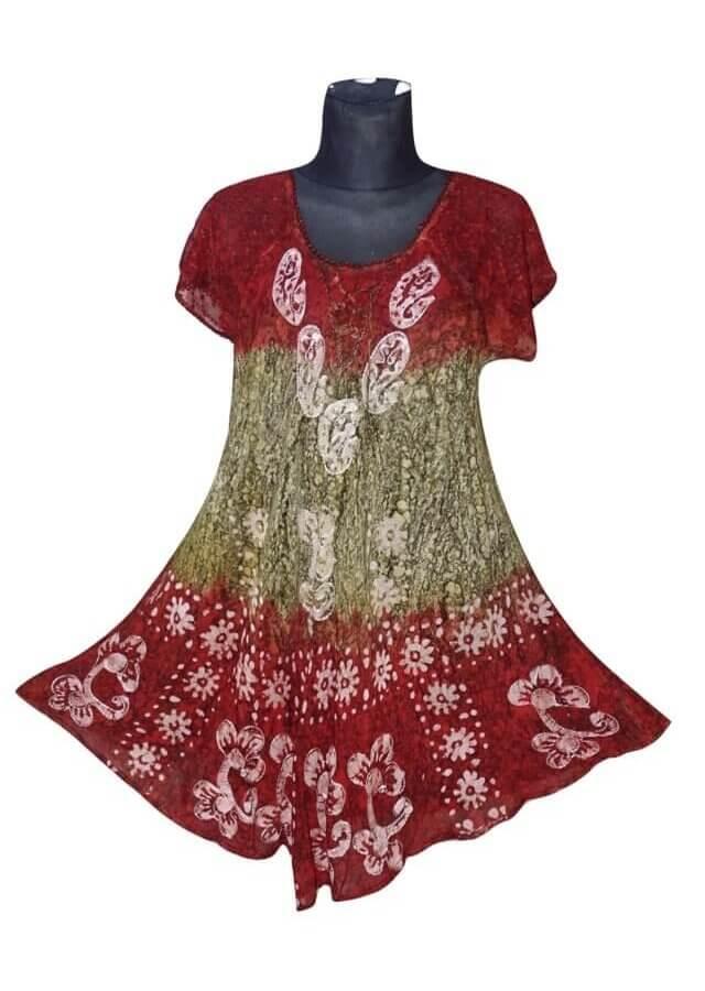 Egyedi rövid ujjú rövid ruha Indiából 2203
