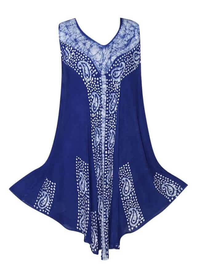 Rövid ruha Indiából több színben 17140 blue