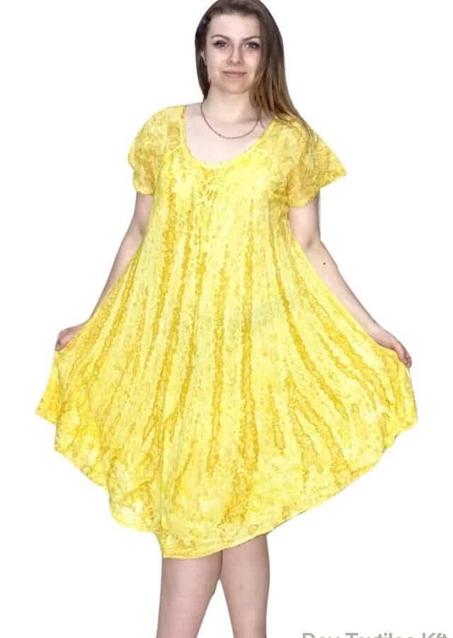 Egyedi-rövid-ujjú-rövid-ruha-Indiából-01-sárga.jpg