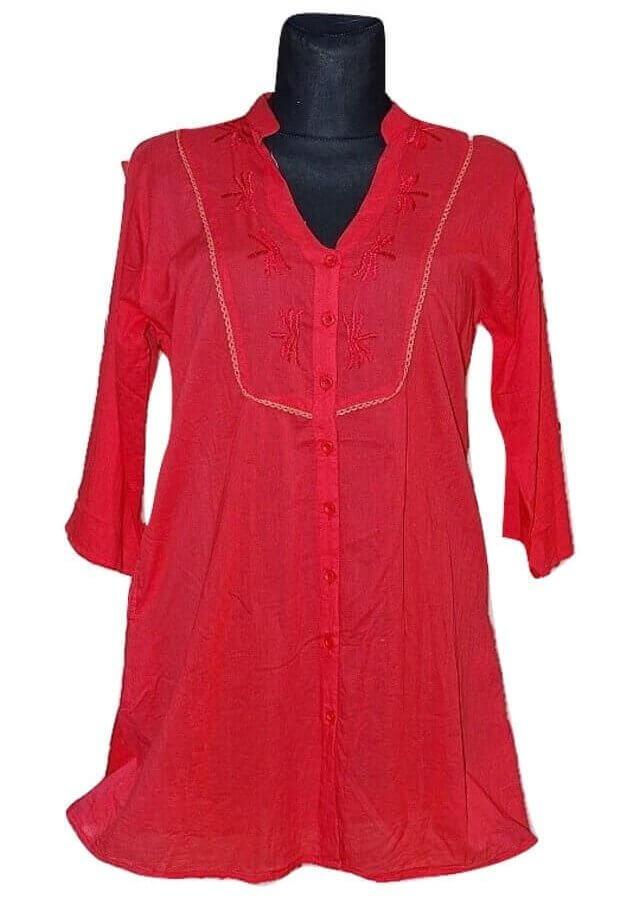 Pamut ing Indiából több színben-piros 2 méretben