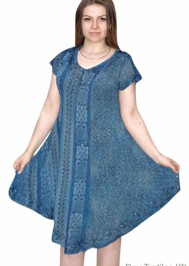 rövid ruha keleti stílusú mintás nyári ruha