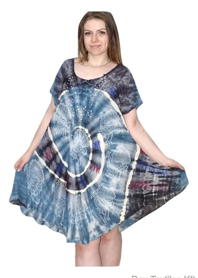 színes halvány páva mintás kék 504