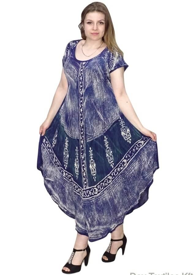 Indiai hosszú ruha absztrakt mintával