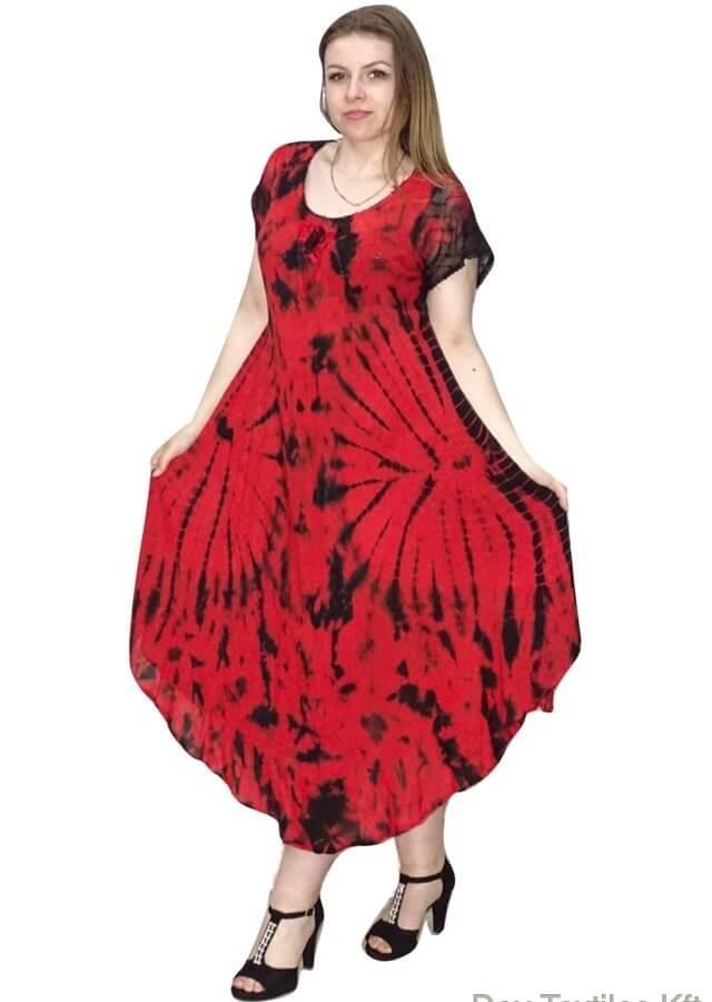 piros hosszú ruha indiából