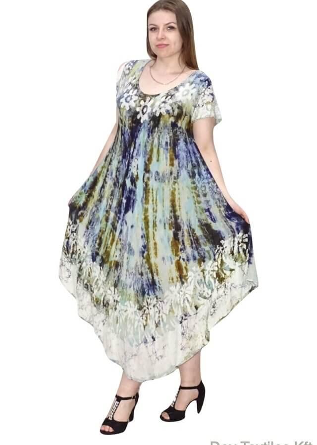 Indiai hosszú ruha színes virág mintával