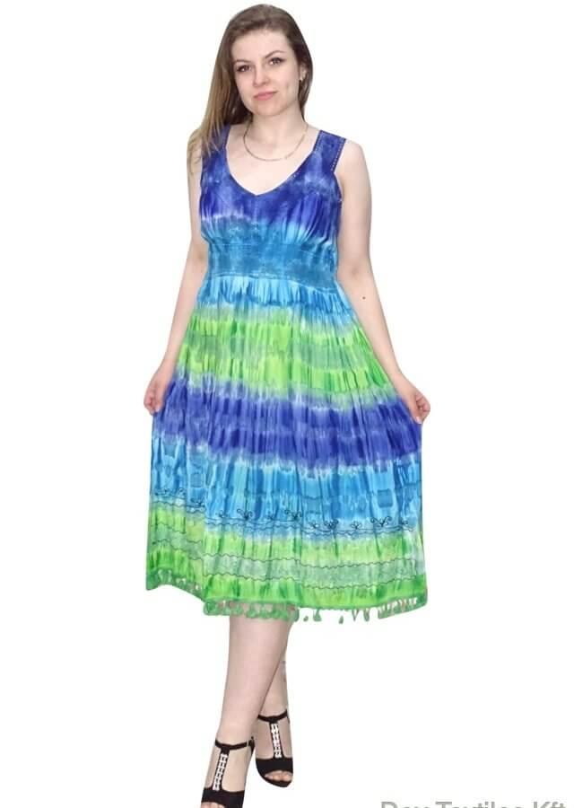 rövid pántos ruha csíkos élénk színekben