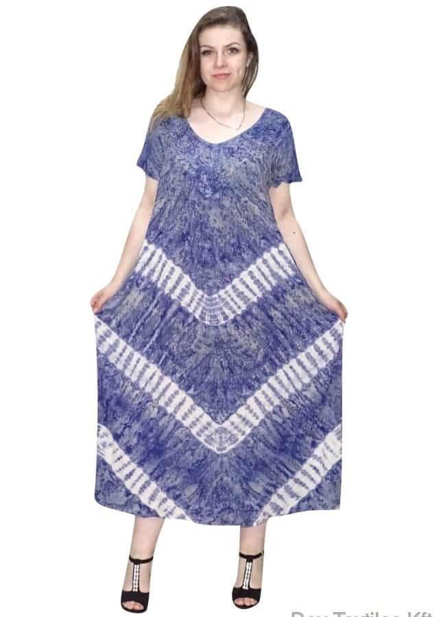 Kék extra ruha csíkos