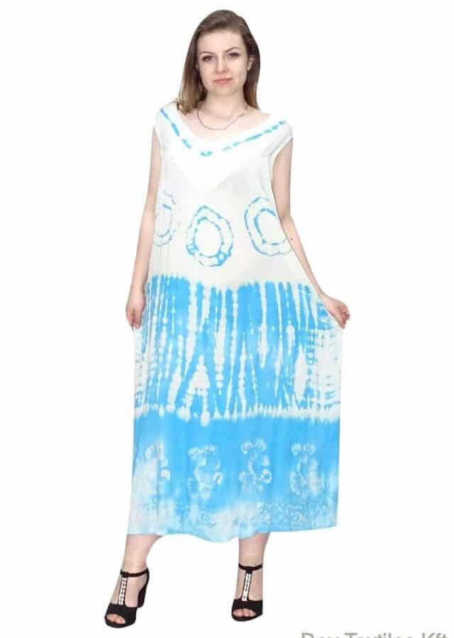Nagy méretű hosszú ruha világoskék