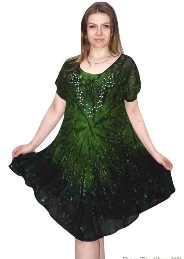 egyedi színes ruha indiaból zóld