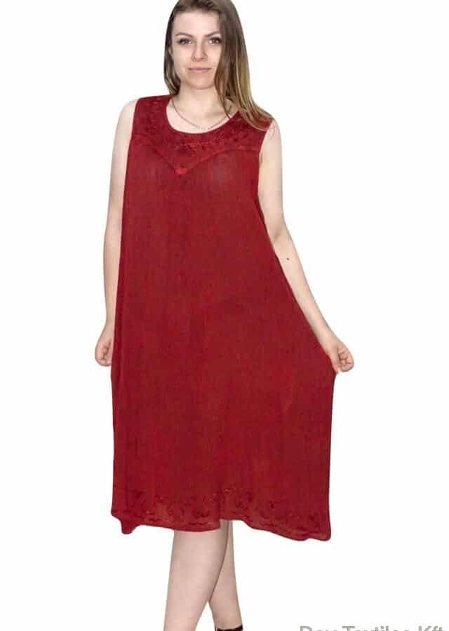 Egyenes rövid ruha bordó színben