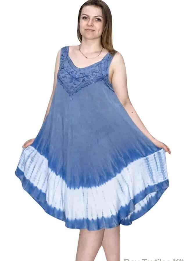 Vékony Pántos Rövid Nyári Ruha Indiából viágós kék