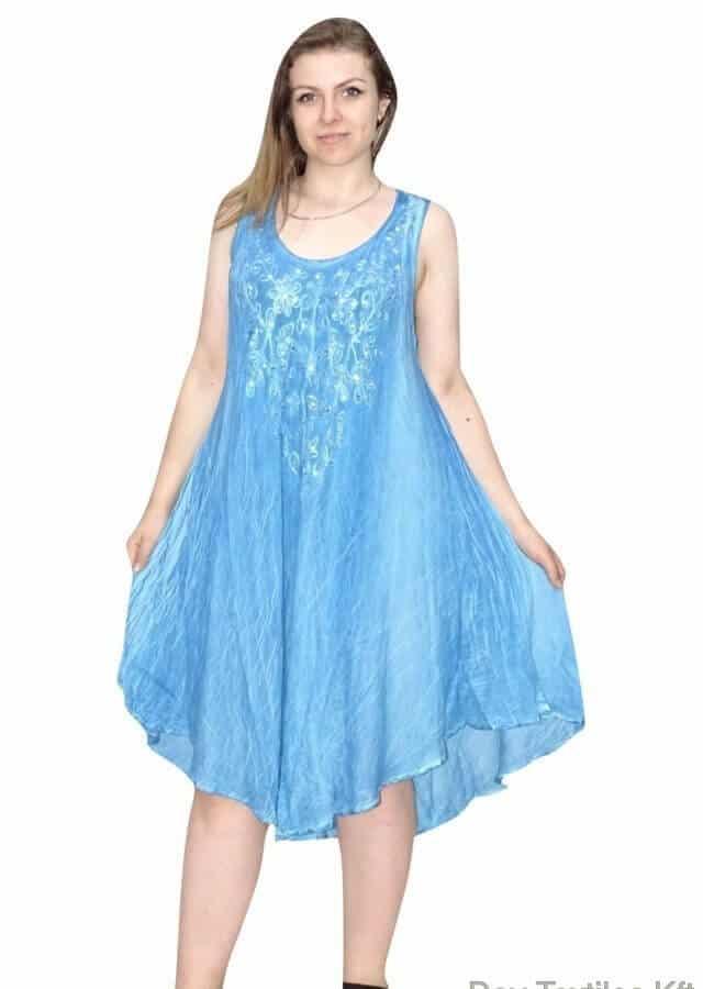 indiai rövid ruha flitterekkel kék