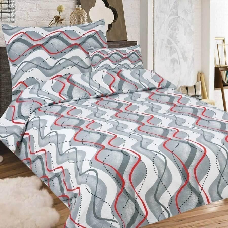 flanel 3 részes ágynemű hullám mintával