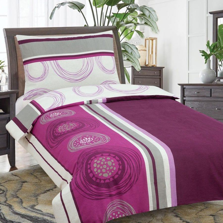 pamut ágyneműk lila és bordó színben