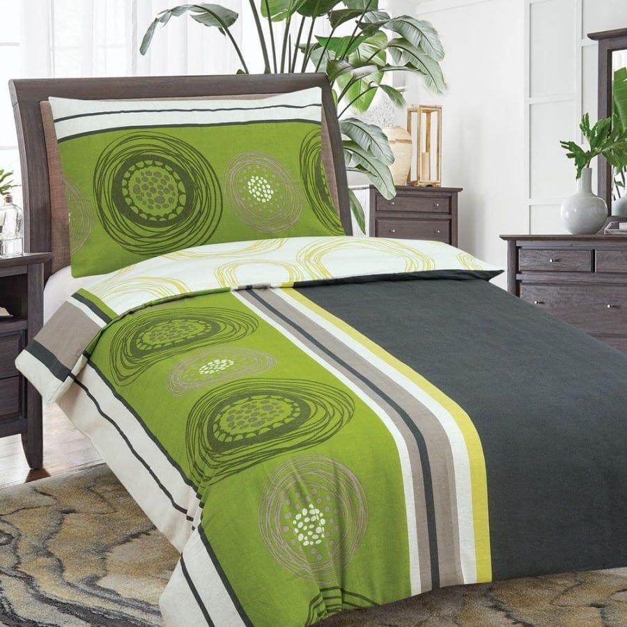 pamut ágyneműk zöld és szürke színben