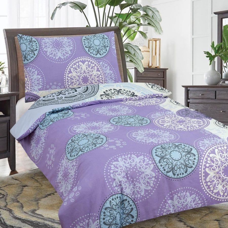 pamut ágyneműk lila színben mandala minta