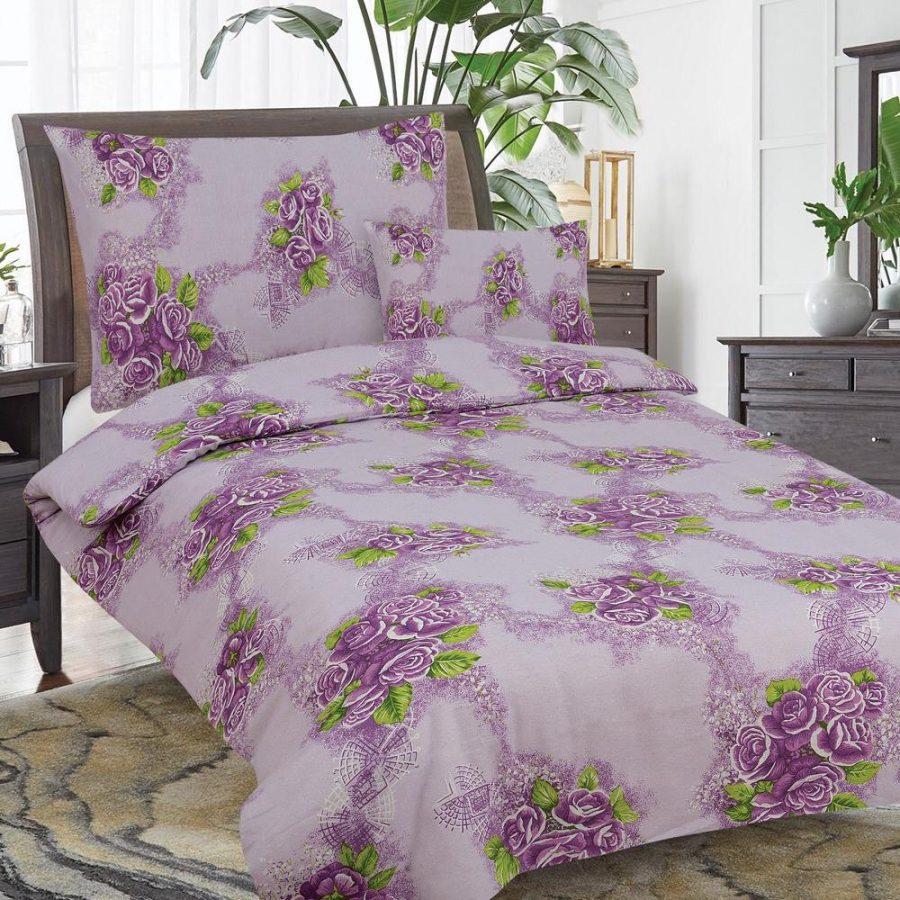 flanel 3 részes ágyneműhuzat pink rózsa minta