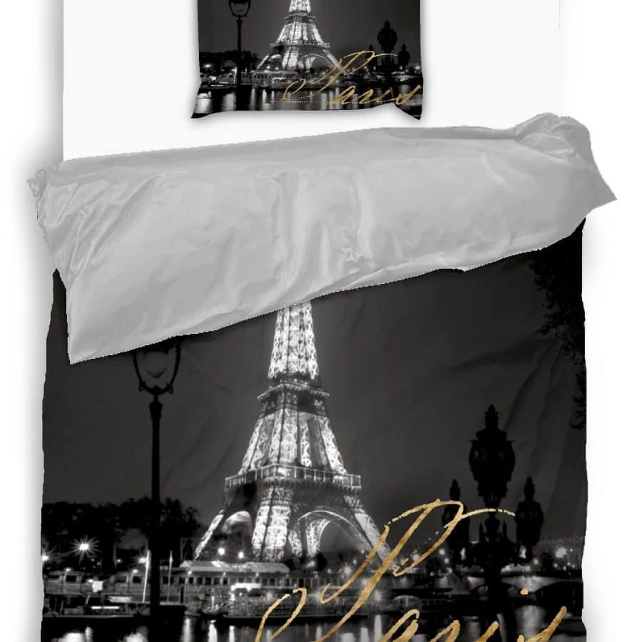 pamut 2 részes ágyneműhuzat párizsi fények mintával