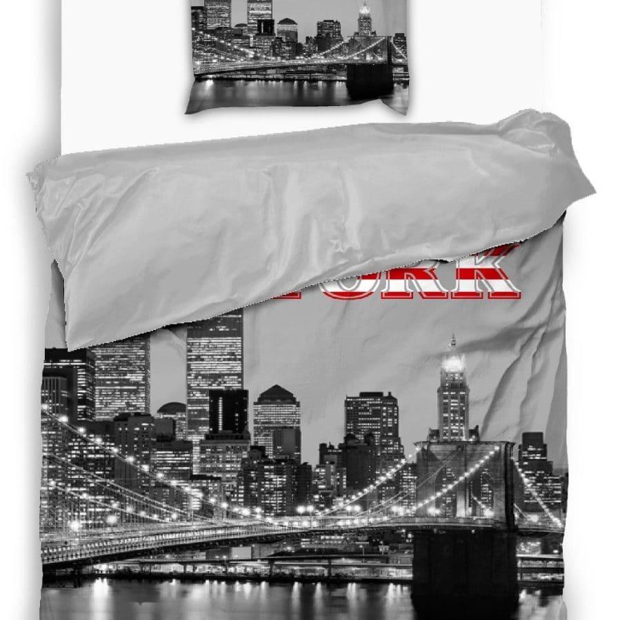 pamut 2 részes ágyneműhuzat new york mintával