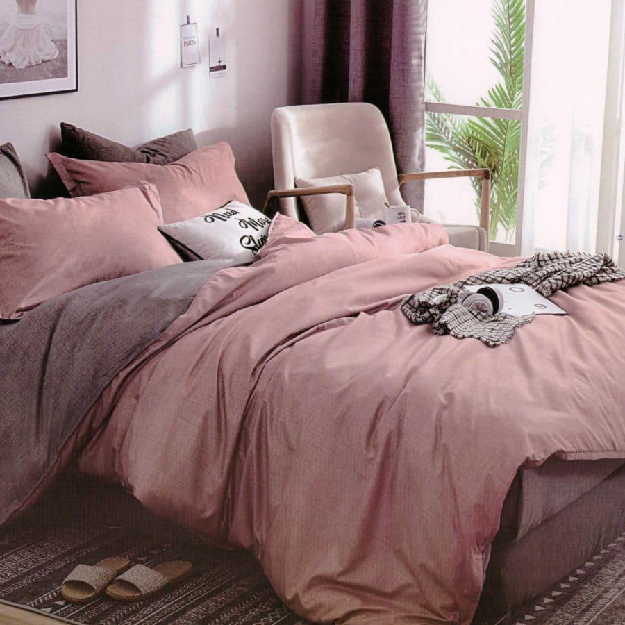 pamut 7 részes ágyneműhuzat bordó színben