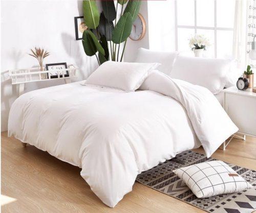 pamut 6 és 7 részes ágyneműhuzat fehér színben