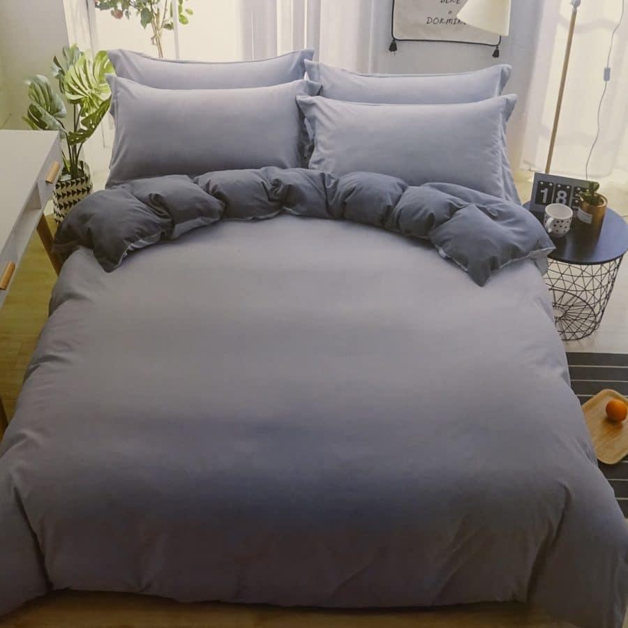 3 részes pamut ágynemű szürke és sötétszürke színben