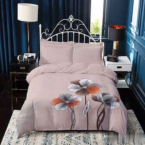 Bézs színben virág minta pamut ágyneműhuzat