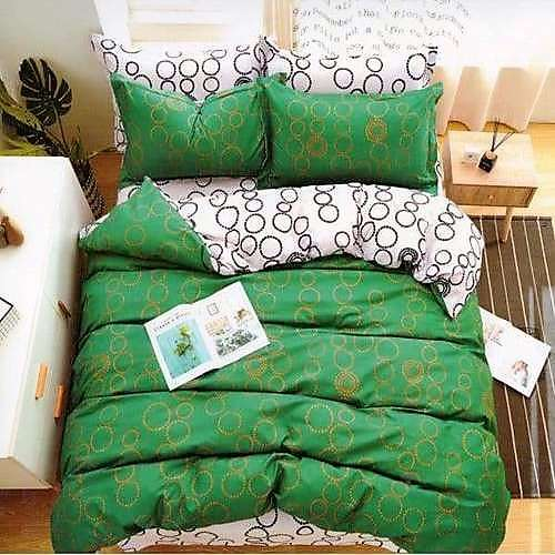pamut 6 és 7 részes ágyneműhuzat zöld karikás