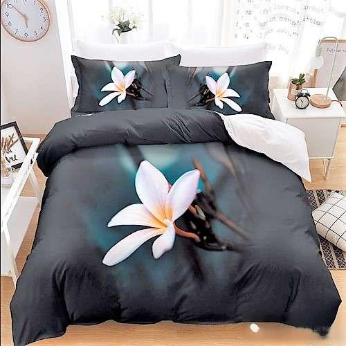 fekete szín fehér virággal Pamut 7 rész