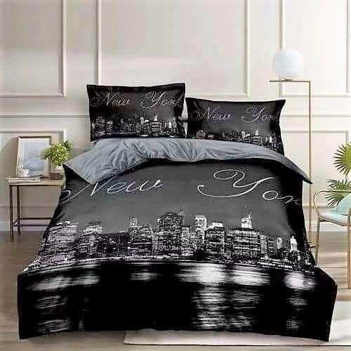 pamut ágyneműhuzat new york minta